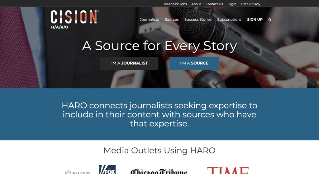 HARO (Help A Reporter Out) Homepage